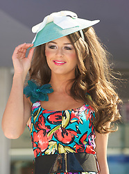 LIVERPOOL, ENGLAND - Thursday, April 8, 2010: A model during the Style 2010 fashion show during the opening day of the Grand National Festival at Aintree Racecourse. (Pic by David Rawcliffe/Propaganda)