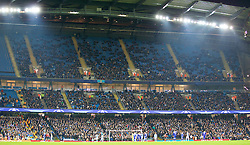 MANCHESTER, ENGLAND - Tuesday, March 15, 2016: Thousands of empty seats as Manchester City produce a bore draw against FC Dynamo Kyiv during the UEFA Champions League Round of 16 2nd Leg match at the City of Manchester Stadium. (Pic by David Rawcliffe/Propaganda)