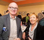 18/07/2015 repro free. Des Kilbane DK Films with Judy Murphy Connacht Tribune  at the World Premiere of The Match Box  a The Galway International Arts Festival production written by Frank MccGuinness and Director by Joan Sheehy and starring Cathy Belton at the Town Hall Theatre, Galway .  <br /> Photo:Andrew Downes:XPOSURE