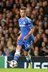LONDON, ENGLAND - September 18: Chelsea's Marco van Ginkel  during the UEFA Champions League Group E match between Chelsea from England and Basel from Switzerland played at Stamford Bridge, on September 18, 2013 in London, England. (Photo by Mitchell Gunn/ESPA)