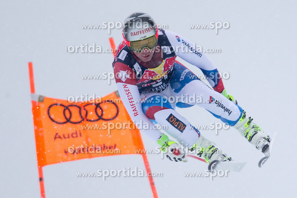 24.01.2015, Streif, Kitzbuehel, AUT, FIS Ski Weltcup, Abfahrt, Herren, im Bild Beat Feuz (SUI) // Beat Feuz of Switzerland in action during the men's Downhill of Kitzbuehel FIS Ski Alpine World Cup at the Streif Course in Kitzbuehel, Austria on 2015/01/24. EXPA Pictures © 2015, PhotoCredit: EXPA/ Johann Groder