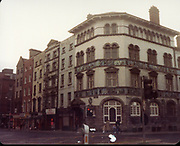 Old Dublin Amature Photos December 1983 WITH, Four Courts, North Quays, Parlement St, Gratton Bridge, Sea Horse, Lantern, Lampost, Chancery Inn, st, Arron Quay, Church, South Quays, Nashs, sunlight chambers,