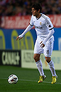 "MADRID, SPAIN - APRIL 27: Ricardo Izecson ""Kaka"" of Real Madrid CF in action during the Liga BBVA between Club Atletico de Madrid and Real Madrid CF at the Vicente Calderon stadium on April 27, 2013 in Madrid, Spain. (Photo by Aitor Alcalde Colomer)."