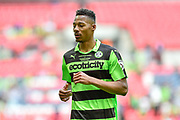 Forest Green Rovers Ethan Pinnock(16) during the Vanarama National League Play Off Final match between Tranmere Rovers and Forest Green Rovers at Wembley Stadium, London, England on 14 May 2017. Photo by Adam Rivers.