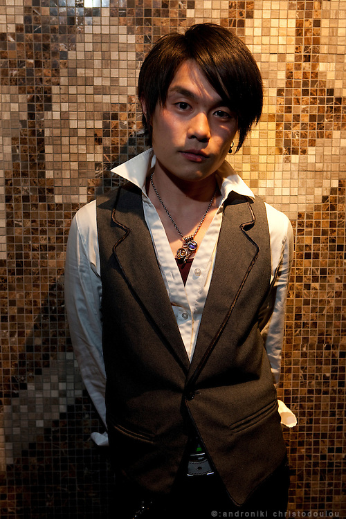DJ Koji (24) He studied Media Studies and he works as a DJ and a barman at Virgin cafe in Osaki, Tokyo. He is interested in fashion but he doesn't like spending too much money for it. He creates his own combinations of cloths without following any particular designer's style.
