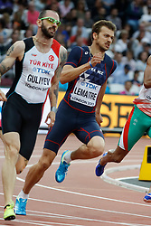 In the heats of the 200 meters men : France's Christophe Lemaitre during the IAAF World Athletics 2017 Championships In Olympic Stadium, Queen Elisabeth Park, London, UK, on August 7th, 2017 Photo by Henri Szwarc/ABACAPRESS.COM