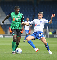 Hakeeb Adelakun of Scunthorpe United (L) and Ryan Lowe of Bury in action - Mandatory by-line: Jack Phillips/JMP - 02/09/2017 - FOOTBALL - Gigg Lane - Bury, England - Bury v Scunthorpe United - English Football League One