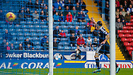 Lasse Vibe of Brentford scores the opening goal during the Sky Bet Championship match between Blackburn Rovers and Brentford at Ewood Park, Blackburn<br /> Picture by Mark D Fuller/Focus Images Ltd +44 7774 216216<br /> 07/11/2015