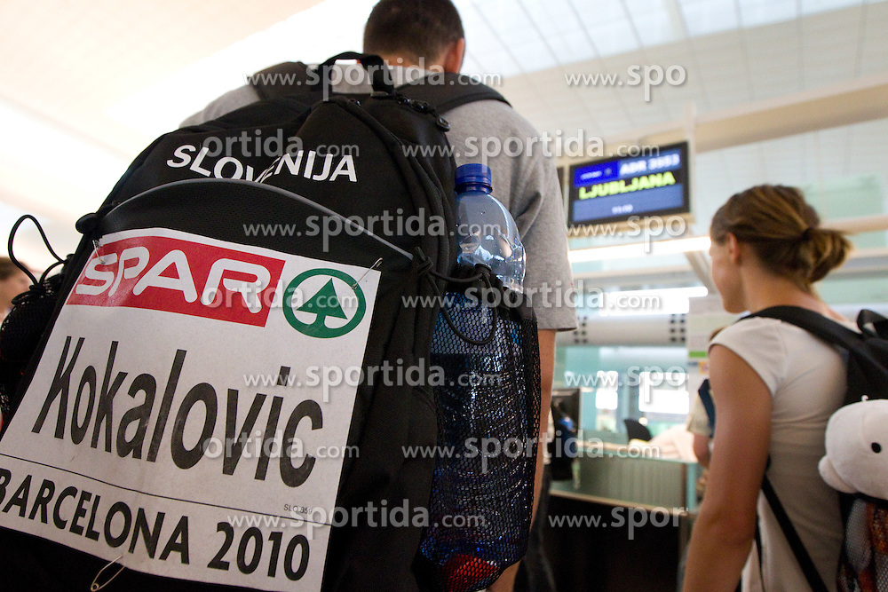 Gregor Kokalovic at departure of team Slovenia at the end of European Athletics Championships Barcelona 2010, on August 2, 2010 at Airport, Barcelona, Spain. (Photo by Vid Ponikvar / Sportida)