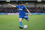 AFC Wimbledon midfielder Callum Reilly (33) about to pass the ball during the EFL Sky Bet League 1 match between AFC Wimbledon and Fleetwood Town at the Cherry Red Records Stadium, Kingston, England on 8 February 2020.