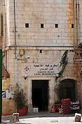 Israel, Jerusalem, Old city Knights' Palace the Latin Patriarchate