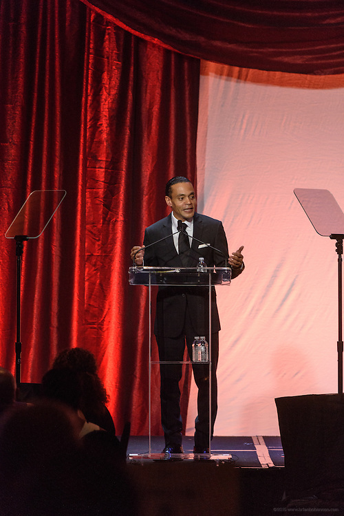 Donald Lassere, President and CEO of the Muhammad Ali Center, gives the opening remarks at the fourth annual  Muhammad Ali Humanitarian Awards Saturday, Sept. 17, 2016 at the Marriott Hotel in Louisville, Ky. (Photo by Brian Bohannon for the Muhammad Ali Center)