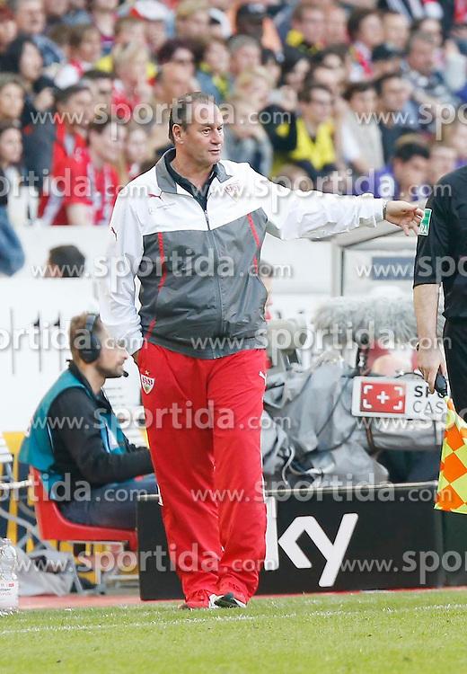 29.03.2014, Mercedes Benz Arena, Stuttgart, GER, 1. FBL, VfB Stuttgart vs Borussia Dortmund, 28. Runde, im Bild Cheftrainer Huub Stevens (VfB Stuttgart) // during the German Bundesliga 28th round match between VfB Stuttgart and Borussia Dortmund at the Mercedes Benz Arena in Stuttgart, Germany on 2014/03/29. EXPA Pictures &copy; 2014, PhotoCredit: EXPA/ Eibner-Pressefoto/ BW-Foto<br /> <br /> *****ATTENTION - OUT of GER*****