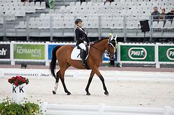Magdalena Cycak, (POL), Samantha - Team Competition Grade Ia Para Dressage - Alltech FEI World Equestrian Games™ 2014 - Normandy, France.<br /> © Hippo Foto Team - Jon Stroud <br /> 25/06/14
