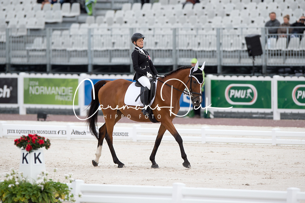 Magdalena Cycak, (POL), Samantha - Team Competition Grade Ia Para Dressage - Alltech FEI World Equestrian Games™ 2014 - Normandy, France.<br /> © Hippo Foto Team - Jon Stroud <br /> 25/06/14