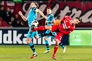 ENSCHEDE - 17-12-2016, FC Twente - AZ, Grolsch Velst Stadion, AZ speler Ben Rienstra, FC Twente speler Jelle van der Heyden\n