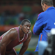 Wrestling - Olympics: Day 10   Mijain Lopez Nunez of Cuba during his bout against Johan Magnus Euren of Sweden in the Quarter Finals of the Men's Greco-Roman 130 kg at the Carioca Arena 2 on August 15, 2016 in Rio de Janeiro, Brazil. (Photo by Tim Clayton/Corbis via Getty Images)