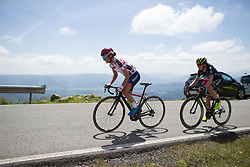 Ashleigh Moolmann-Pasio (RSA) of Cervélo-Bigla Cycling Team attacks in the last few hundred metres of  Stage 4 the Emakumeen Bira - a 58 km road race, between Etxarri Aranatz and San Miguel on May 20, 2017, in Basque Country, Spain. (Photo by Balint Hamvas/Velofocus)