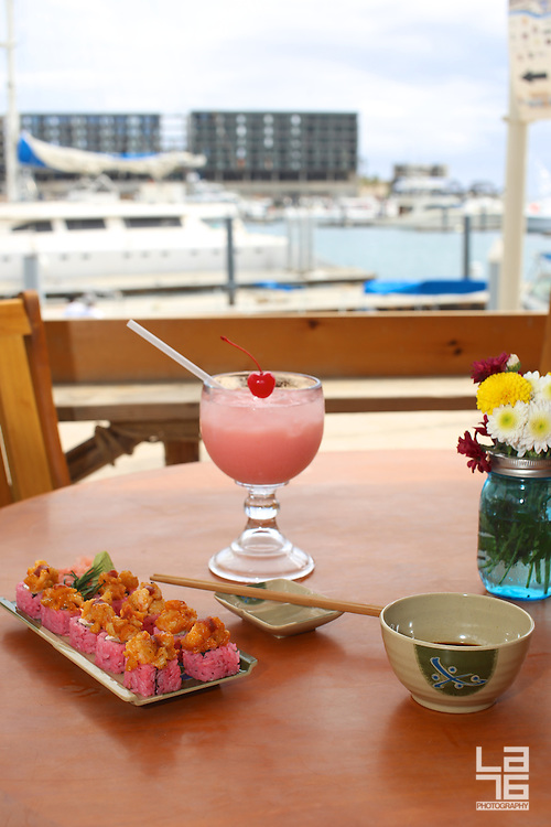 Pink October offer at Captain Tony's restaurant in Cabo San Lucas, Baja California Sur, Mexico