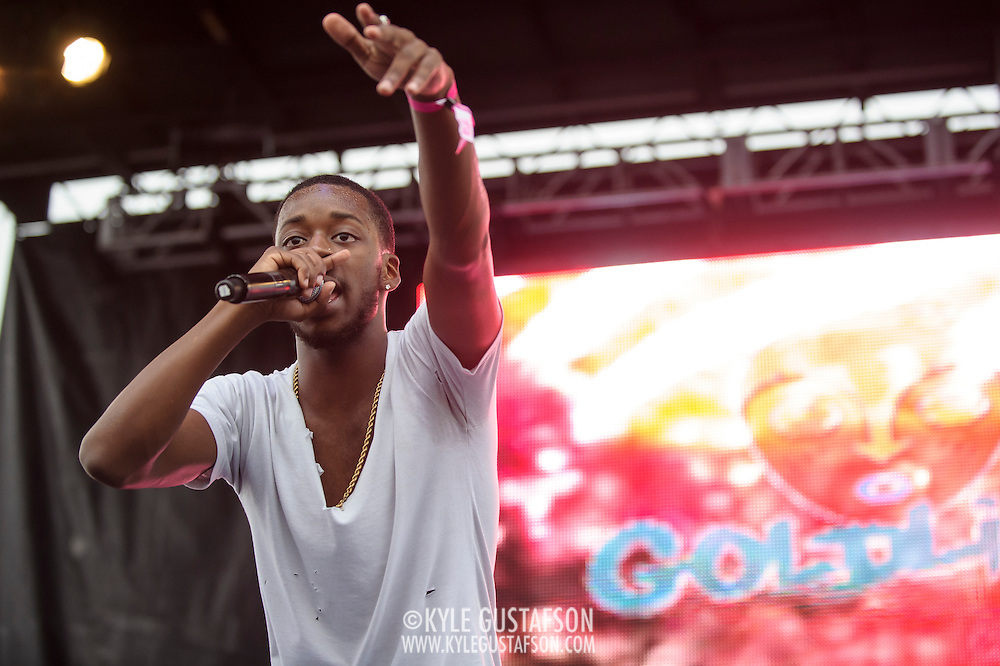 WASHINGTON, DC - August 23rd, 2014 - Local rapper Goldlink performs at the 3rd annual Trillectro Music Festival at RFK Stadium in Washington, D.C. (Photo by Kyle Gustafson / For The Washington Post)