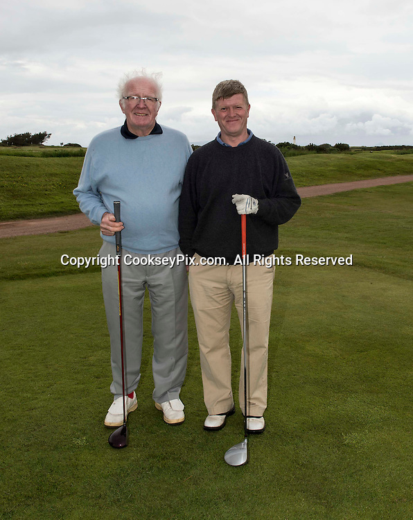 Picture by Christian Cooksey/CookseyPix.com. Free First Use. Fathers Day Golf at Trump Turnberry with The Herald.<br /> <br /> Pictured LtoR Tom and Raymond Dean from Kilmarnock.
