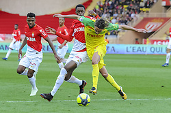April 7, 2018 - France - Rene Krhin (FC Nantes) - Adama Diakhaby  (Credit Image: © Panoramic via ZUMA Press)