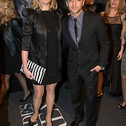 NLD/Amsterdam/20150211 - Premiere Fifty Shades of Grey, Tommie christiaan en partner Michelle Splietelhof