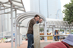 Delaveau Patrice and Delestre Simon (FRA)<br /> CSI 5* Longines Hong Kong Masters 2013<br /> Boat trip Hong Kong harbour<br /> © Hippo Foto - Counet Julien
