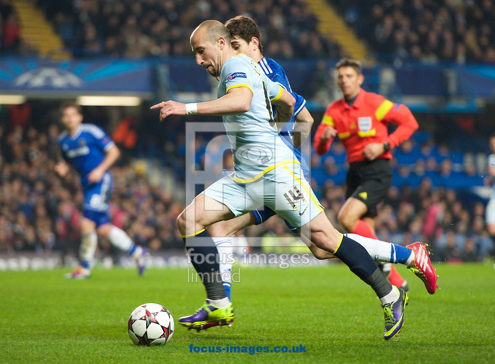 Picture by Alan Stanford/Focus Images Ltd +44 7915 056117<br /> 11/12/2013<br /> Iasmin Latovlevici of Steaua Bucharest during the UEFA Champions League match at Stamford Bridge, London.