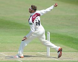 Rob Keogh of Northamptonshire bowls - Photo mandatory by-line: Dougie Allward/JMP - Mobile: 07966 386802 - 09/07/2015 - SPORT - Cricket - Cheltenham - Cheltenham College - LV=County Championship 2