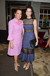 Left to right, SONIA FALCONE and NATALIA GIEROWSKA at a cocktail party hosted by Mrs Sonia Falcone and Mrs Kimberley Robson Chairman of Le Bal de la Riveria 2016 for the forthcoming Ball held at Flemings Hotel, Half Moon Street, London on 27th September 2016.