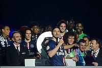 Zlatan Ibrahimovic  - 23.05.2015 - PSG / Reims - 38eme journee de Ligue 1<br />Photo : Andre Ferreira / Icon Sport