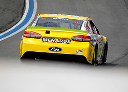 September 30, 2018 - Charlotte, NC, U.S. - CHARLOTTE, NC - SEPTEMBER 30:#12: Ryan Blaney, Team Penske, Ford Fusion Menards/Pennzoil during the running of the Inagural Bank of America ROVAL 400 on Sunday September 30, 2018 at Charlotte Motor Speedway in Concord North Carolina  (Photo by Jeff Robinson/Icon Sportswire) (Credit Image: © Jeff Robinson/Icon SMI via ZUMA Press)