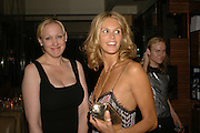 Amy Sacco and Elle MacPherson. Natalia Vodianova and Elle Macpherson host a dinner in honor of Francisco Costa (creative Director for women) and Italo Zucchelli (creative director for men)  of Calvin Klein. Locanda Locatelli, 8 Seymour St. London W1. ONE TIME USE ONLY - DO NOT ARCHIVE  © Copyright Photograph by Dafydd Jones 66 Stockwell Park Rd. London SW9 0DA Tel 020 7733 0108 www.dafjones.com