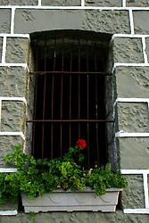 Uma flor na janela de uma casa de pedra no municipio de Bento Gonçalves, na serra gaúcha. FOTO: Jefferson Bernardes/Preview.com