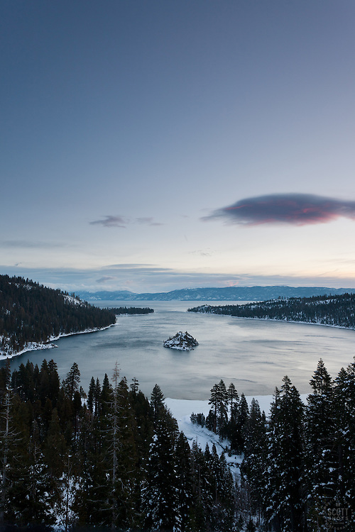 """Emerald Bay Sunrise 11"" - This sunrise was photographed from the world famous Emerald Bay in Lake Tahoe, CA."