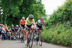 Battling up the first QoM Aviva Women's Tour 2016 - Stage 5. A 113.2 km road race from Northampton to Kettering, UK on June 19th 2016.