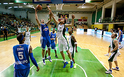 Hasan Rizvic of Azovmash vs Smiljan Pavic of Krka during basketball match between KK Krka and BC Azovmash Mariupol (UKR) of 4th Round of Regular season of Eurocup 2011/2012 on December 6, 2011, in Arena Leon Stukelj, Novo mesto, Slovenia. Krka defeated Azovmash 74-70. (Photo by Vid Ponikvar / Sportida)