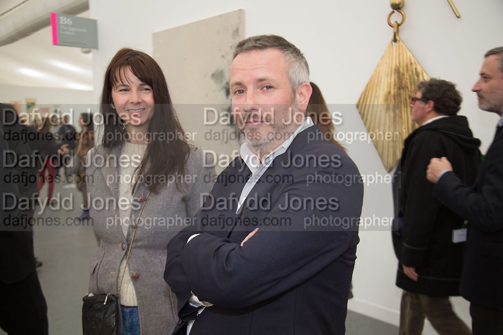 GILLIAN WEARING; JAKE MILLER, The VIP preview of Frieze. Regent's Park. London. 16 October 2013