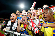 Onderwerp/Subject: Cambuur Leeuwarden - Jupiler League<br /> Reklame:  <br /> Club/Team/Country: <br /> Seizoen/Season: 2012/2013<br /> FOTO/PHOTO: F.L.T.R(TOP): Goalkeeper Leonard NIENHUIS of Cambuur Leeuwarden and Mark DIEMERS of Cambuur Leeuwarden and Goalkeeper Rodney UBBERGEN of Cambuur Leeuwarden and Melvin DE LEEUW of Cambuur Leeuwarden and Giovanni HIWAT of Cambuur Leeuwarden F.L.T.R(BOTTOM) Tim BAKENS of Cambuur Leeuwarden and Tim KEURNTJES of Cambuur Leeuwarden and Yuris ROSE ( Yuri ROSE ) of Cambuur Leeuwarden celebrating Jupiler League Championship and promotion to Eredivisie with the Trophy and Champagne. (Photo by PICS UNITED)<br /> <br /> Trefwoorden/Keywords: <br /> #02 #17 #18 $94 &plusmn;1367598354739<br /> Photo- &amp; Copyrights &copy; PICS UNITED <br /> P.O. Box 7164 - 5605 BE  EINDHOVEN (THE NETHERLANDS) <br /> Phone +31 (0)40 296 28 00 <br /> Fax +31 (0) 40 248 47 43 <br /> http://www.pics-united.com <br /> e-mail : sales@pics-united.com (If you would like to raise any issues regarding any aspects of products / service of PICS UNITED) or <br /> e-mail : sales@pics-united.com   <br /> <br /> ATTENTIE: <br /> Publicatie ook bij aanbieding door derden is slechts toegestaan na verkregen toestemming van Pics United. <br /> VOLLEDIGE NAAMSVERMELDING IS VERPLICHT! (&copy; PICS UNITED/Naam Fotograaf, zie veld 4 van de bestandsinfo 'credits') <br /> ATTENTION:  <br /> &copy; Pics United. Reproduction/publication of this photo by any parties is only permitted after authorisation is sought and obtained from  PICS UNITED- THE NETHERLANDS