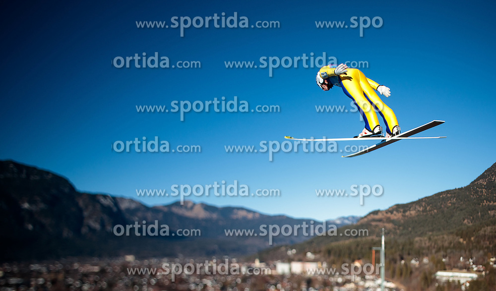 31.12.2016, Olympiaschanze, Garmisch Partenkirchen, GER, FIS Weltcup Ski Sprung, Vierschanzentournee, Garmisch Partenkirchen, Training, im Bild Markus Schiffner (AUT), mit einem Tilt & Shift Objektiv fotografiert // Markus Schiffner of Austria photographed with a Tilt & Shift lens during his Practice Jump for the Four Hills Tournament of FIS Ski Jumping World Cup at the Olympiaschanze in Garmisch Partenkirchen, Germany on 2016/12/31. EXPA Pictures © 2017, PhotoCredit: EXPA/ JFK