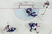 Laurent Meunier / Cristobal Huet / Michael Raffl - 05.05.2015 - Autriche / France  - Championnats du Monde de Hockey sur Glace 2015 -Prague<br />Photo : Xavier Laine / Icon Sport *** Local Caption ***