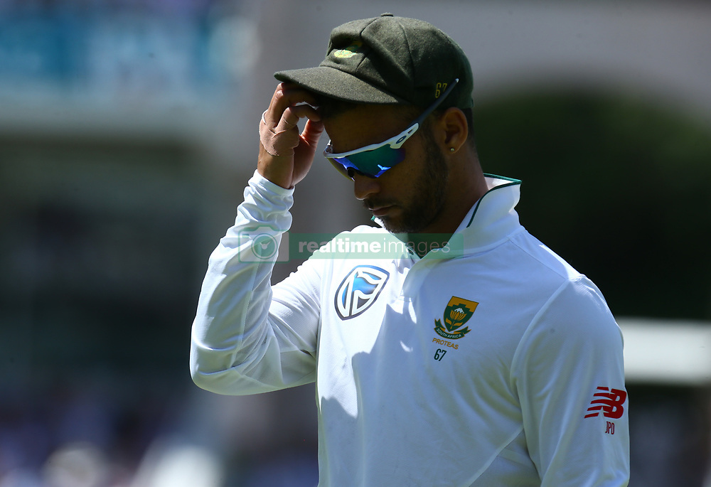 July 7, 2017 - London, United Kingdom - JP Duminy of South Africa .during 1st Investec Test Match between England and South Africa at Lord's Cricket Ground in London on July 07, 2017  (Credit Image: © Kieran Galvin/NurPhoto via ZUMA Press)