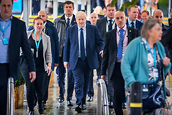 © Licensed to London News Pictures. 29/09/2019. Manchester, UK. Prime Minister Boris Johnson on first day of the Conservative Party Conference at Manchester Central in Manchester. Photo credit: Andrew McCaren/LNP