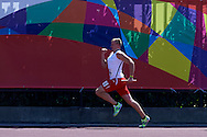 SO Poland athlete Radoslaw Juszkiewicz competes at athletics relay 4 x 100 meters during eighth day of the Special Olympics World Games Los Angeles 2015 on August 1, 2015 at Loker Stadium on USC (University of Southern California) in Los Angeles, USA.<br /> USA, Los Angeles, August 1, 2015<br /> <br /> Picture also available in RAW (NEF) or TIFF format on special request.<br /> <br /> For editorial use only. Any commercial or promotional use requires permission.<br /> <br /> Adam Nurkiewicz declares that he has no rights to the image of people at the photographs of his authorship.<br /> <br /> Mandatory credit:<br /> Photo by © Adam Nurkiewicz / Mediasport