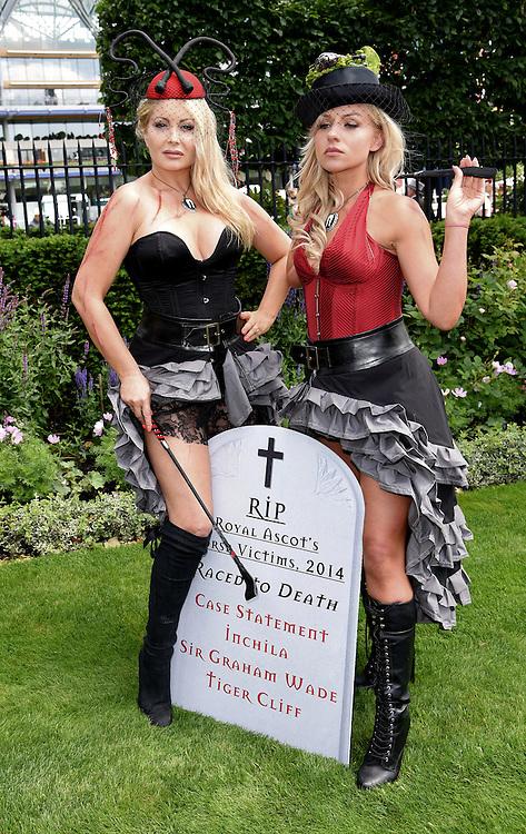 Victoria Eisermann and Pola Pospieszalska attend Royal Ascot Ladies Day at Ascot Racecourse, Ascot, Berkshire on Thursday 18 June 2015