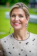 Koningin Maxima bracht donderdagmiddag 18 mei 2017 een werkbezoek aan het Prinses Maxima Centrum voo