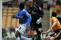 Photo: Paul Thomas.<br /> Wolverhampton Wanderers v Birmingham City. Coca Cola Championship. 22/04/2007.<br /> <br /> Andy Cole (8) scores for Birmingham.