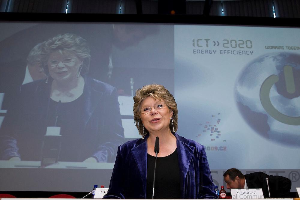 BRUSSELS - BELGIUM - 19 MARCH 2009 --  ICT for energy efficiency. Commissioner Viviane Reding.  Photo: Erik Luntang