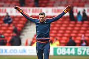 Nottingham Forest goalkeeper Dorus de Vries during the Sky Bet Championship match between Nottingham Forest and Bristol City at the City Ground, Nottingham, England on 27 February 2016. Photo by Jon Hobley.